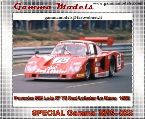 SPG-023Porsche 935 Lola N° 76 Red Lobster Le Mans  1982